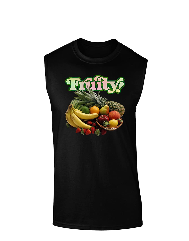 TooLoud Fruity Fruit Basket Dark Muscle Shirt