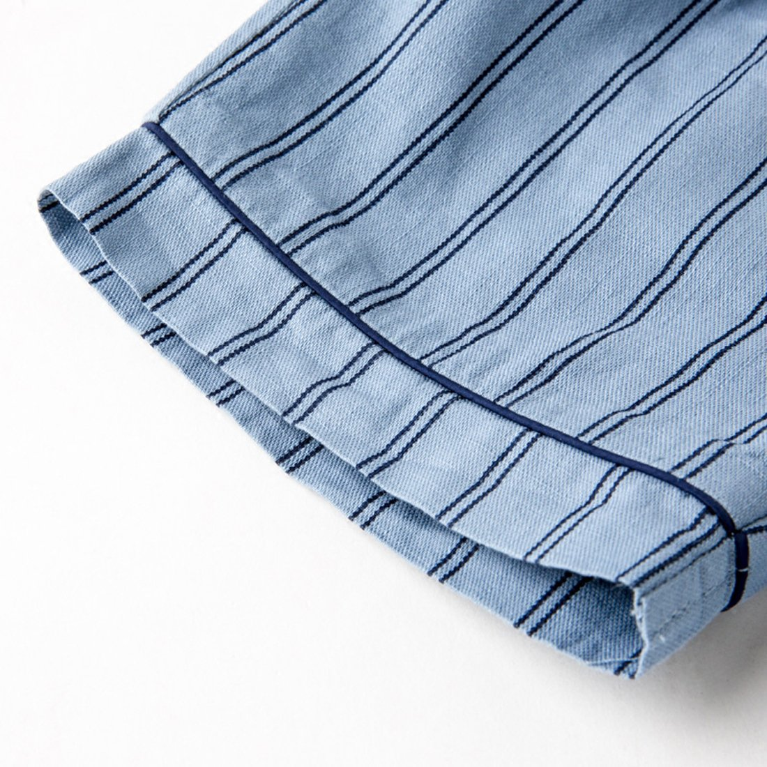 PAUBOLI Boys Button Down Pajamas Set Short Sleeve Organic Cotton Striped Sleepwear Loungewear (6-7 Years) by PAUBOLI (Image #5)