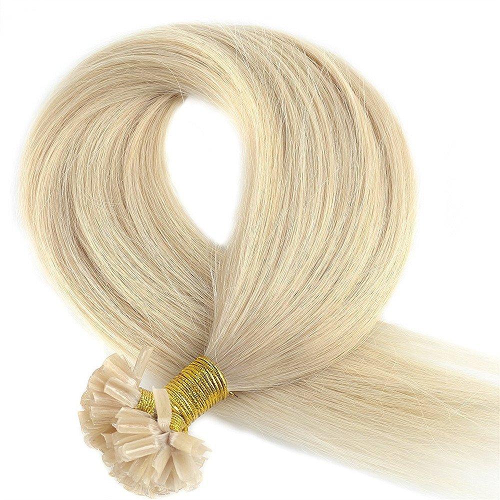 50cm 200 Ciocche Hair Extension Cheratina Capelli Veri Naturali 100% Remy Human Hair Pre Bonded U-tip Nail Hair Keratina Allungamento, 100g, 1B# Nero Naturale UK-Fashion-Shop