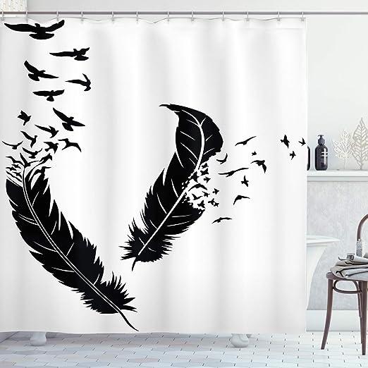 Animals Shower Curtain Fabric Bathroom Decor Set with Hooks 4 Sizes