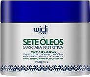 Máscara Nutritiva Sete Óleos, 500 g, Widi Care, Branco, Médio