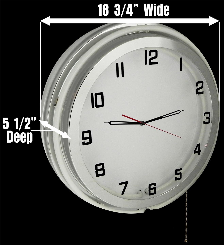Arkansas University Razorbacks 18'' Red Neon Garage Clock from Redeye Laserworks by Redeye Laserworks (Image #3)