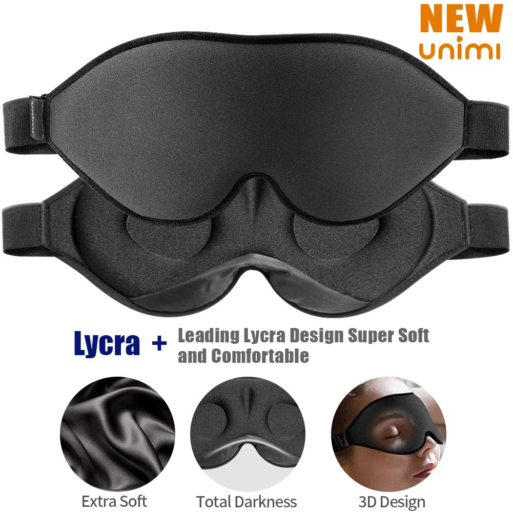 Upgraded black out sleep mask