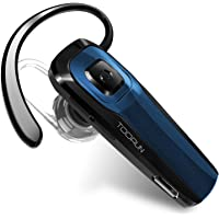 TOORUN M26 Bluetooth Headset with Noise Cancelling Mic (Blue)