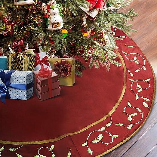 ANOTHERME - Falda de árbol de Navidad Grande Hecha a Mano con ...