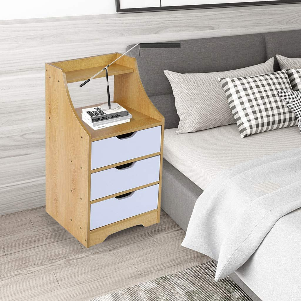 Modern 3 Drawers Tall Nightstand