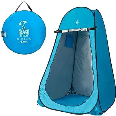 Aktive 62163 Tienda campaña cambiador para camping con suelo, azul turquesa, 120 x 120 x 190 cm