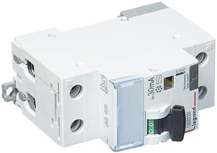 N 6/KA 30/mA AC Legrand 411013/DX3/fils C16/A 1P