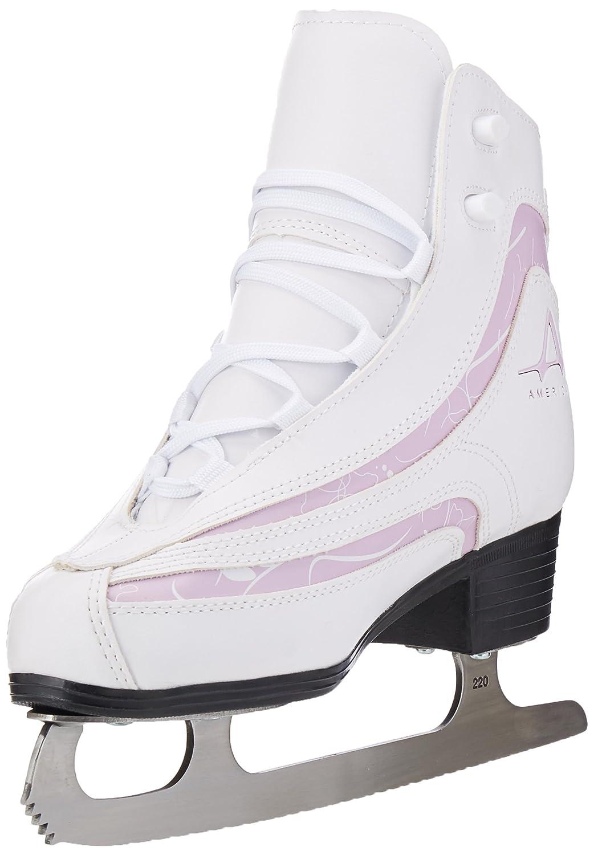 American Womens 537 Softboot Plum Trim Ice Skates