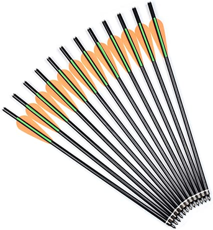 "12pk 20/"" Crossbow Bolts Roll Fiberglass Arrows for Archery Bow Hunting Outdoor"