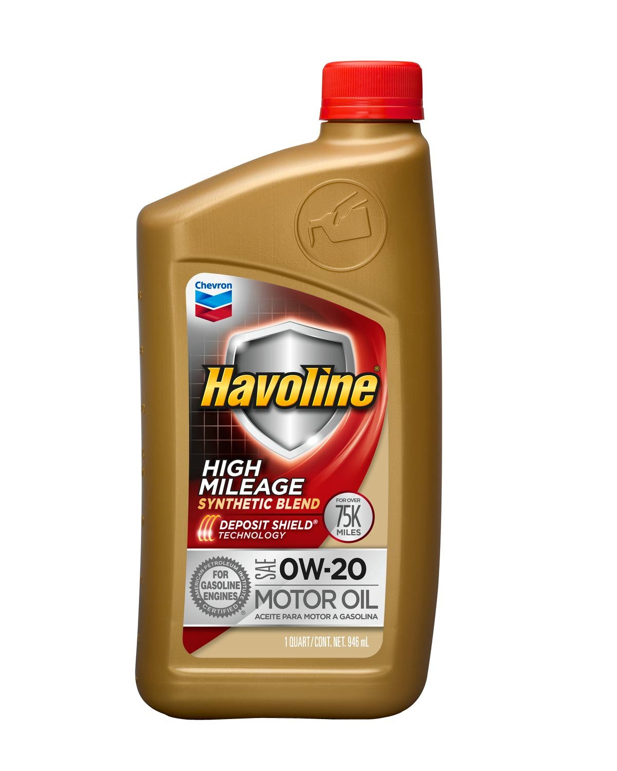 Amazon.com: Havoline 254642485 0W20 High Mileage Synthetic Blend, 5 quart, 3 Pack: Automotive