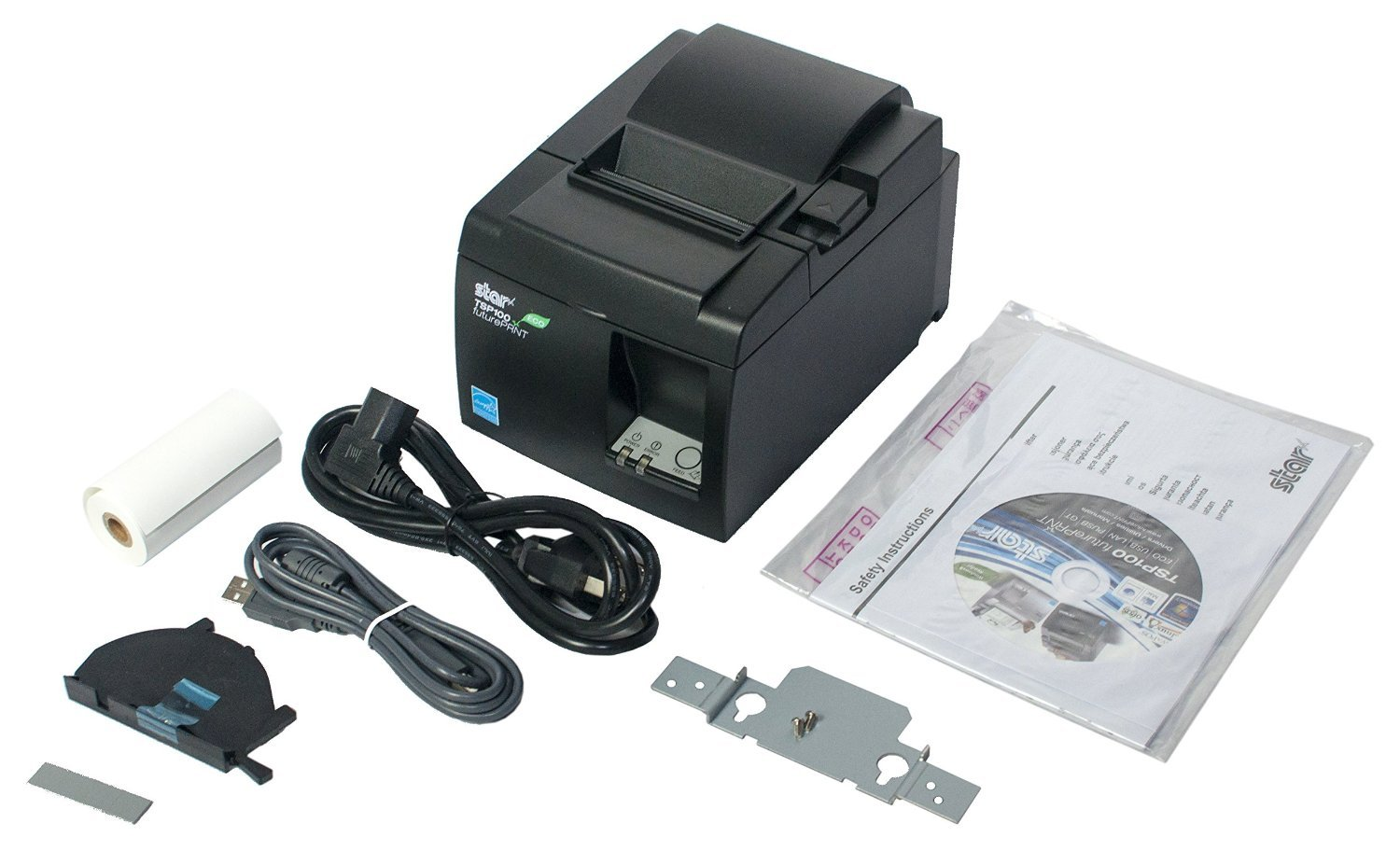 SQUARE POS HARDWARE BUNDLE - Star Micronics TSP143IIU 39464011 USB Printer and Epsilont Cash Drawer 16'' by 16'' 5 Bill 8 Coin by Epsilont (Image #4)