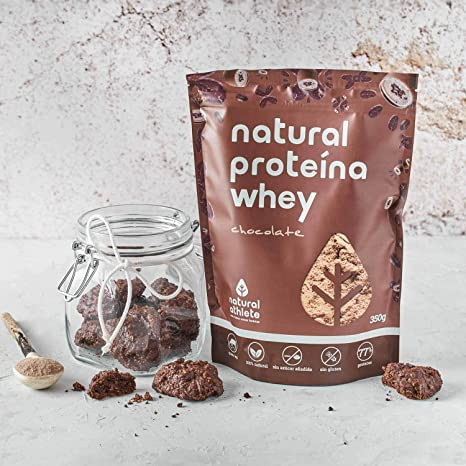 Proteína Vegana Chocolate Natural Athlete, 72% Proteína, 100 ...