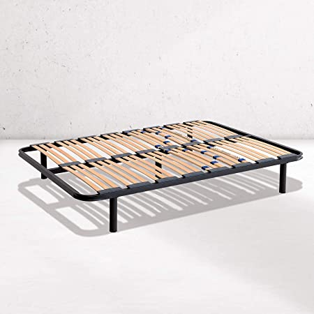 Dreaming Kamahaus Somier Multiláminas |80 x 180 cm| Tubo 40x30 | Refuerzo Lumbar | con Patas Redondas 25cm.