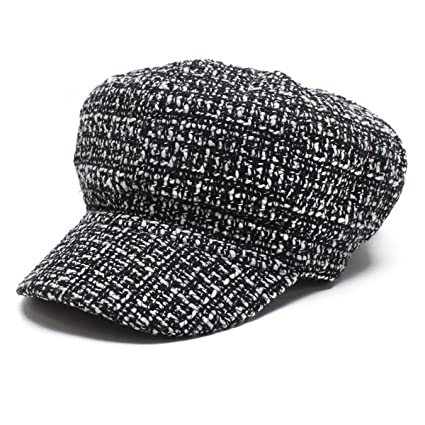 f83b07f1b988c TTjII Beret Hat Solid Color French Artist Party Knitted Cap Beanie punk  Costume Cabbie Hat Golf