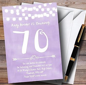 Amazon 10 X Purple Lilac Lights 70th Customized Birthday Party