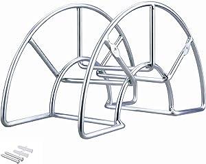 Sageme Hose Hanger, Heavy Duty Steel Hose Holder, Wall Mount,Carrier, Hook for Garden Hose/Expandable Hose/Hose Reel/Water Hose/Pocket Hose/Flexable Hose/Magic Hose (Metal)