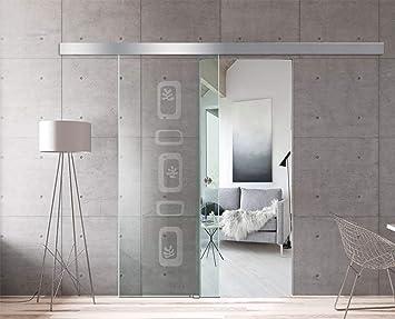 Modern Glass Art - Puerta corredera de cristal para interior diseño Boss - Cristal templado de seguridad de 8 mm de grosor, nano revestido, accesorios de acero inoxidable SS304, transparente: Amazon.es: Bricolaje