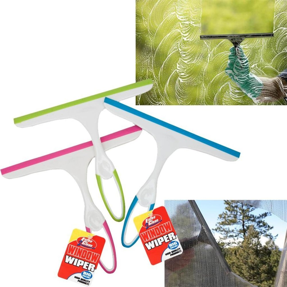 Aquiver Window Glass Squeegee Wiper Cleaning Car Blade Soap Cleaner Bathroom Mirror Shower Screen Cleaner 1 pc Rondom Color