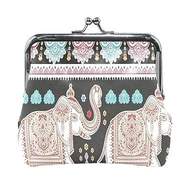 Amazon.com: Monedero indio Lotus Etnico Elefante Mujer ...