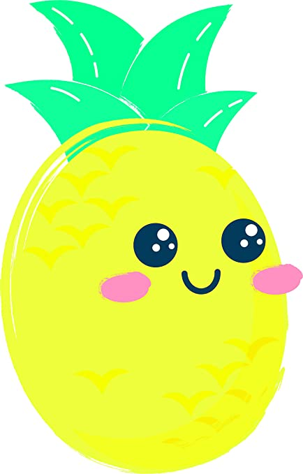 Pineapple smiling. Amazon com cute kawaii