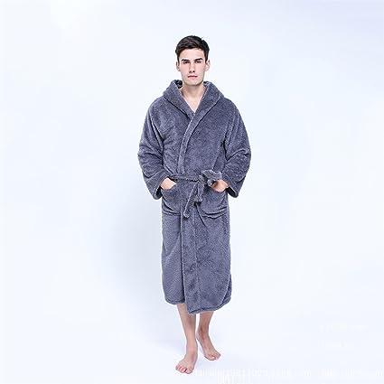 Pajamas Mens And Ladies Bathrobe Hooded Shawl Collar Bathrobe Dressing Gown  Belt Gym Shower Spa Hotel 177b210c6