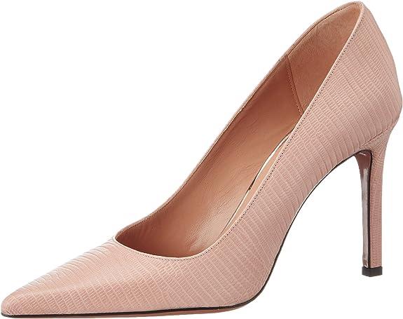 TALLA 39 EU. Oxitaly Sole 100, Zapatos de tacón con Punta Cerrada para Mujer