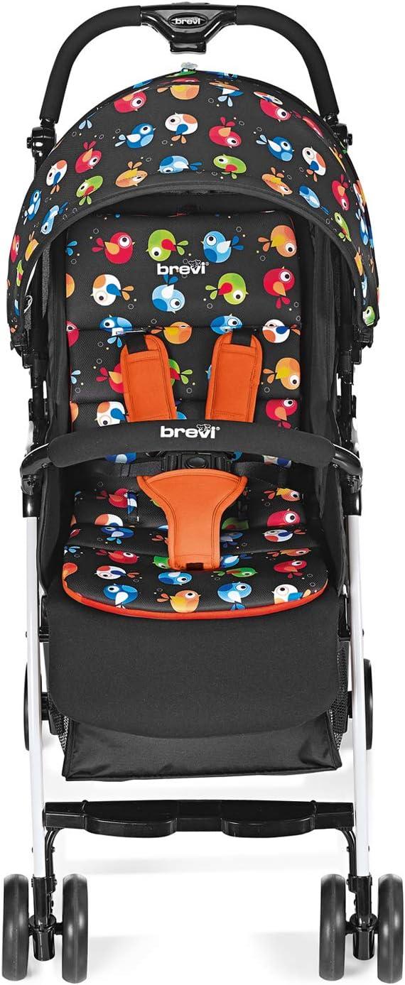 Brevi 709-579 Mini Large Passeggino, Uccellini di Bosco, Multicolore