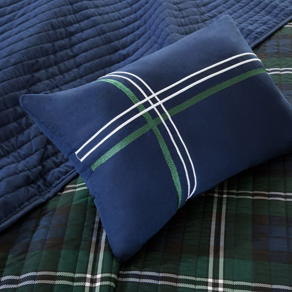 Mi-Zone Brody Reversible Coverlet Set Blue Full//Queen Mi Zone MZ80-294
