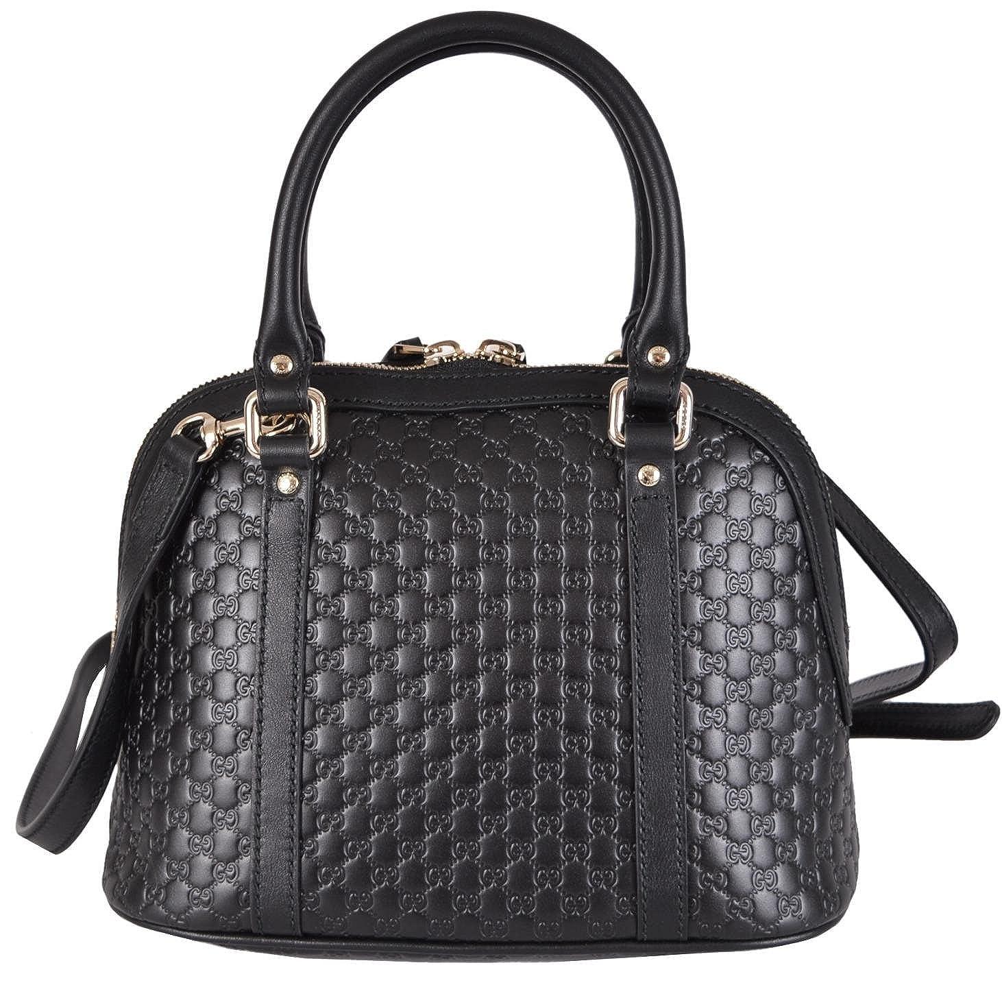 48479c2d932 Amazon.com  Gucci Women s Micro GG Black Leather Convertible Mini Dome  Purse  Shoes
