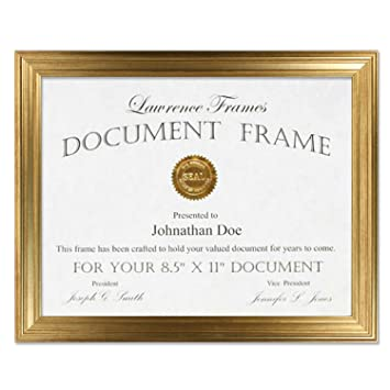 Amazoncom Lawrence Frames 85x11 Sutter Burnished Gold Picture