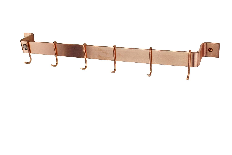 Enclume PR8B HS WBRD Deep Bookshelf Wall Rack with Alder Shelf 9 Hammered Steel