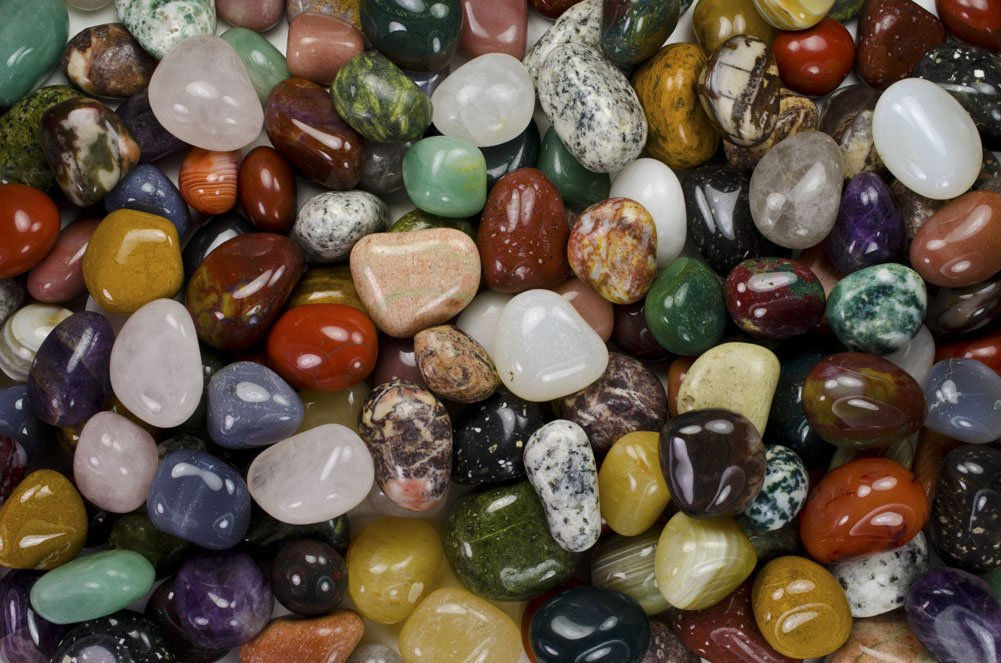 Fantasia Materials: 11 lbs Tumbled Assorted Indian Agate ''AA'' Grade Stones from India - Large 1'' Bulk Natural Polished Gemstone Supplies for Crafts, Reiki, Wicca and Energy Crystal Healing