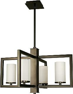 "product image for Framburg 1195 MB 4-Light Theorem Dining Chandelier, 41"" x 23"" x 14"", Mahogany Bronze"