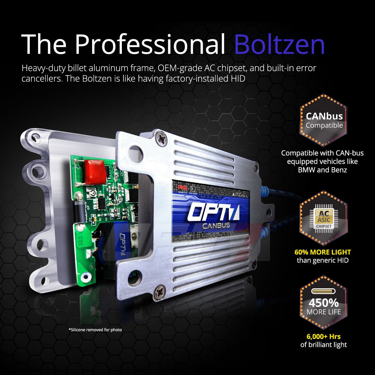 Opt7 Boltzen Ac 35w Canbus H11 H8 H9 Hid Kit Relay Wiring Schematic Bundle All Bulb Sizes And Colors 2 Yr Warranty 6000k Lightning Blue Xenon Light