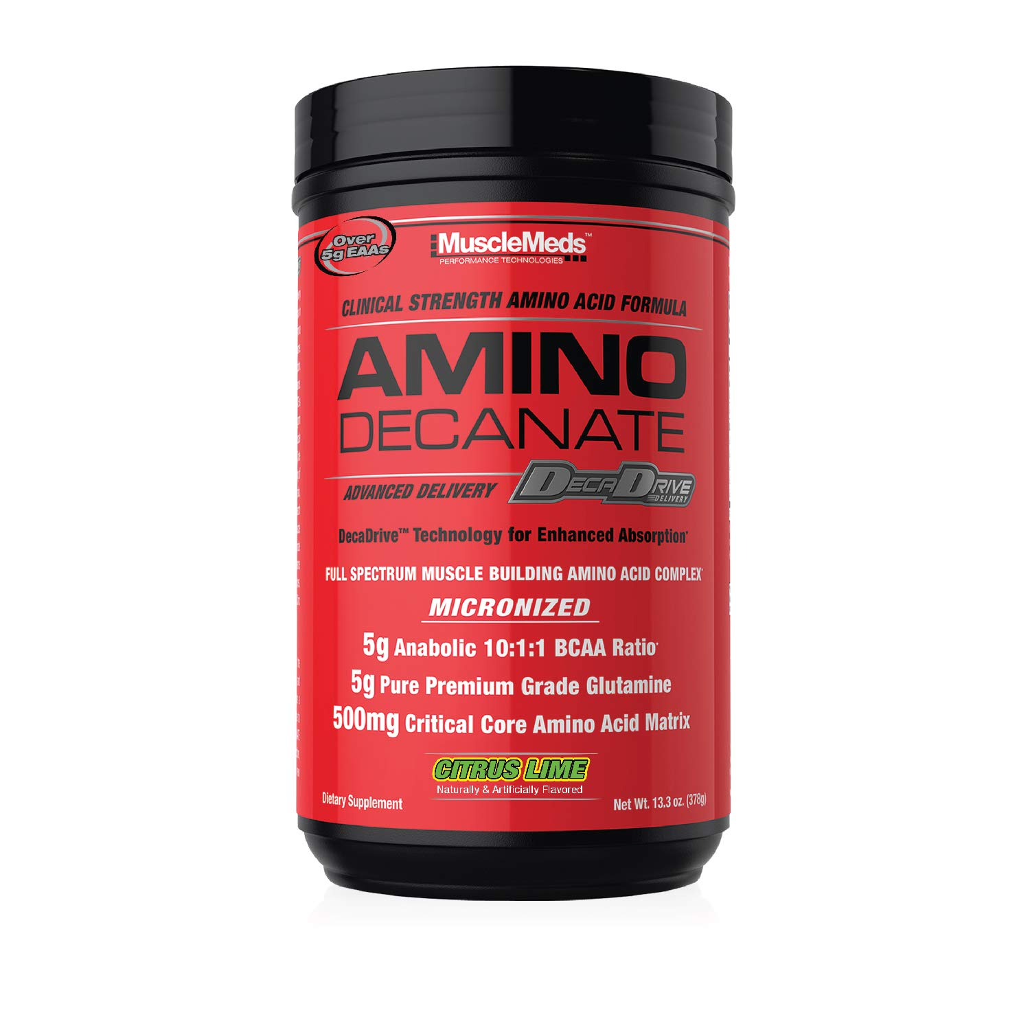 MuscleMeds Amino Decanate, Citrus Lime, 360 Grams