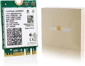 Authentic Intel AX200NGW Wireless Card, Wi-Fi 6 11AX WiFi Module 2 x 2 MU-MIMO Dual Band Wireless Card with Bluetooth 5.1 Internal WiFi Adapter Support Windows 10 64bit, M.2/NGFF
