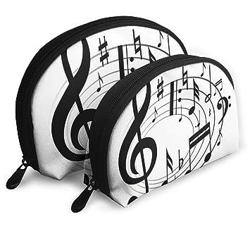 Amazon Com Makeup Bag Music Notes Clipart Portable Shell Storage