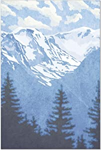"Tree-Free Greetings ECOnotes Blank Note Cards, Matching Envelopes, Blank Stationary Card Set, 4"" x 6"", Rocky Mountain, Pack of 12 (FS56067)"
