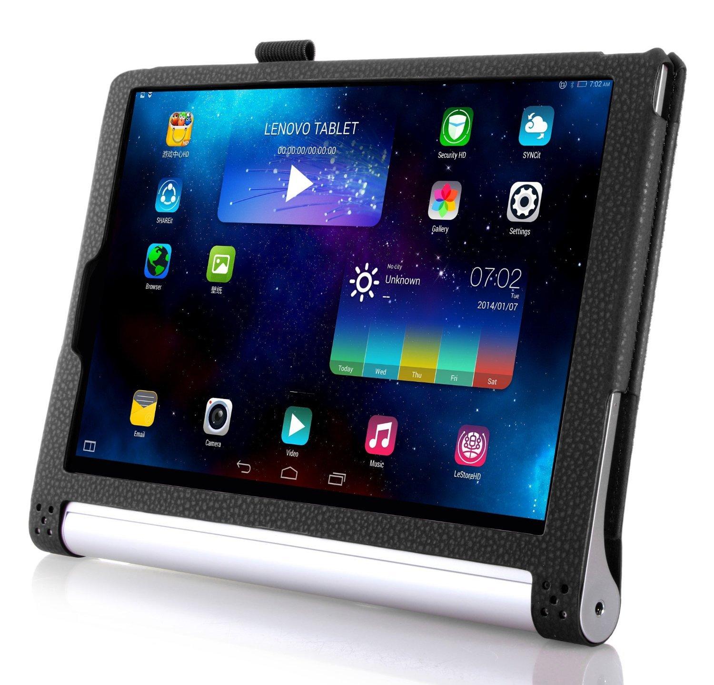 ELTD Lenovo YOGA Tab 3-X50L cover, Book-style Funda de piel de cuerpo entero para Lenovo YOGA Tab 3-X50L 10.1-inch con la función del sueño / ...