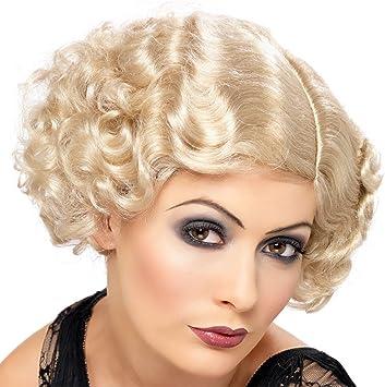 Amscan International Adults Flapper Wig Fancy Dress Ladies 1920s Charleston