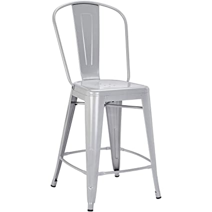 Fine Pioneer Square Corliss 24 Inch Counter Height Metal Stool With Back Rest Set Of 4 Jet Gray Forskolin Free Trial Chair Design Images Forskolin Free Trialorg