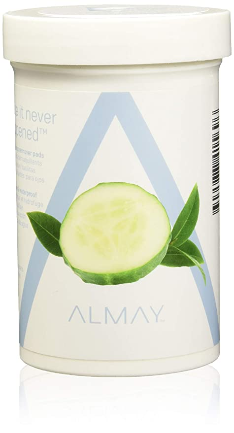 Almay Longwear & Waterproof Eye Makeup Remover Pads, Hypoallergenic, Cruelty Free, Fragrance Free, Ophthalmologist Tested, 120 Pads