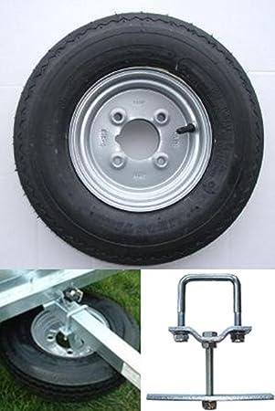 """400 x 8 pulgadas remolque rueda y neumático con Neumático de 4 capas y 4 """""""