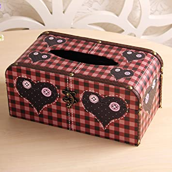 Europäische Leder Tissue Box Aufbewahrungsbox Multifunktionales ...