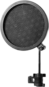 Detectorcatty PS-2 Double Layer Studio Microphone Mic Wind Screen Pop Filter/Swivel Mount/Mask Shied For Speaking Recording