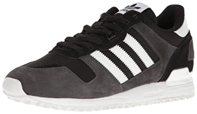 adidas Originals Men's ZX 700 Running Shoe, Black/White/Utility Black, 5
