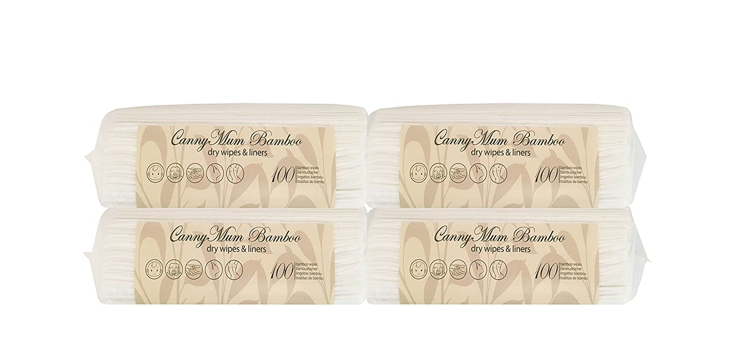 CannyMum Bamboo Baby Wipes. Biodegradable. 4 Packs (400 Wipes) Canny Way