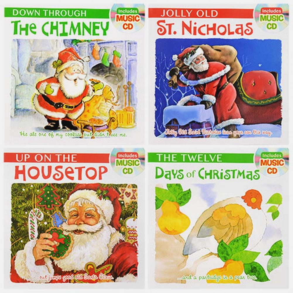 Christmas Sing Read Learn Bundle Set of 4 Books With CDs Jingle Bells Silent Night Landoll