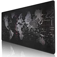 "Kriture Gaming Mouse Pad Extended Mouse Map Mat (World Map 31.5""x11.8""inch,3mm),Nonslip Base, Thick, Comfy, Waterproof…"